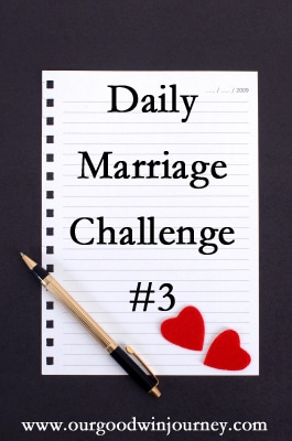 daily #marriage challenge part 3