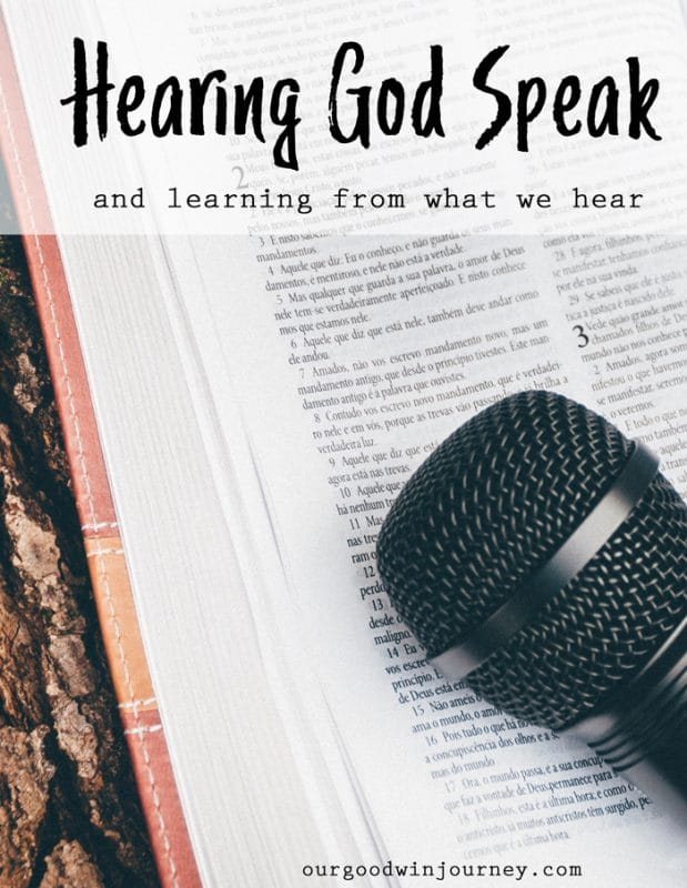 Hearing God Speak and Learning From His Words to Us