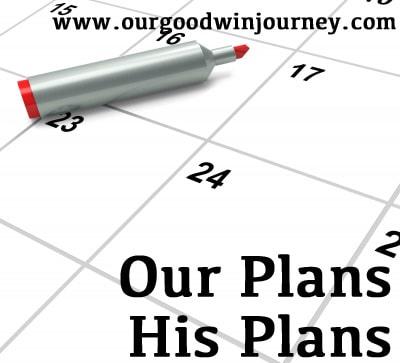 our plans, His plans #faith