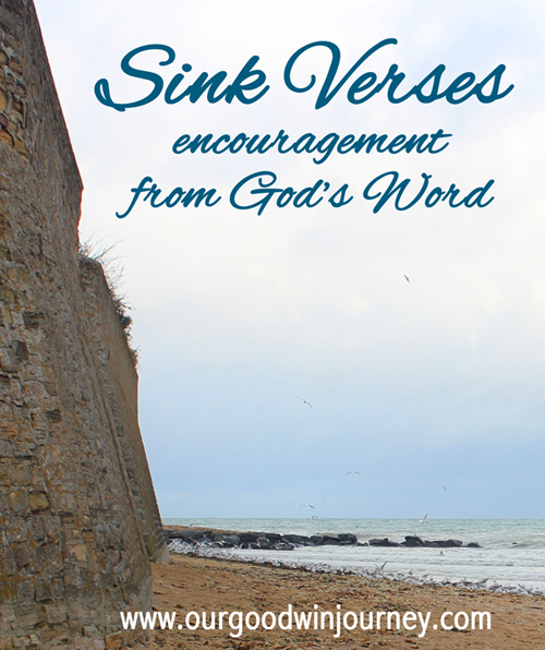 a list of encouraging verses from God's Word #sinkverses #faith #bible