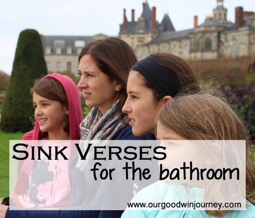 sink verses for the bathroom #momofgirls #raisinggirls #parenting #sinkverses #faith