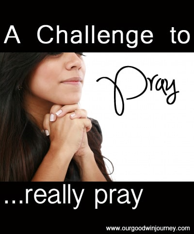 A Challenge to #pray... really pray #prayer #devotion #faith