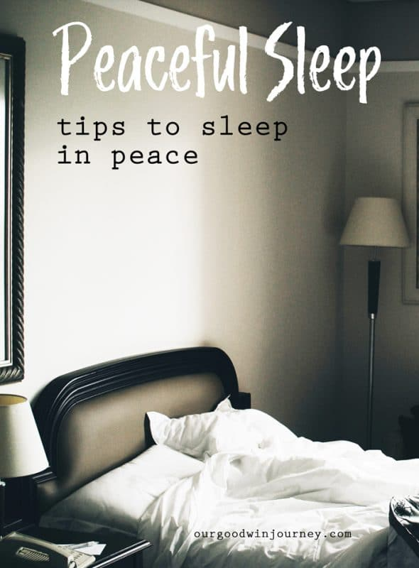 Peaceful Sleep - tips to sleep in peace