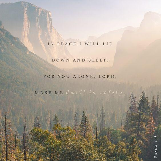 Peaceful Sleep - tips and verses to help you sleep in peace