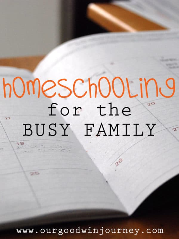 Homeschooling for the BUSY FAMILY - a 5 Day Series full of real life busy family tips to keep homeschool going strong