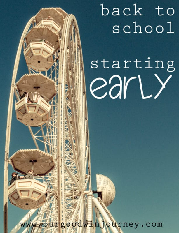 why busy families should start their homeschool year early.