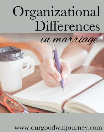 the organizational differences between spouses in #marriage