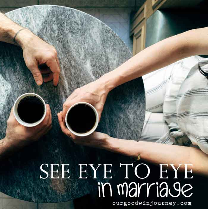 See Eye to Eye - How to see eye to eye in marriage