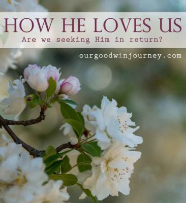 Oh How He Loves Us - Are we seeking Him in return?