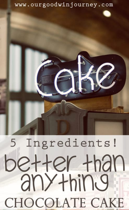 Better Than Anything Heath Bar Chocolate Cake with only 5 ingredients!