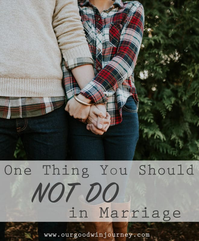 Successful Marriage - 1 Thing You Should NOT Do