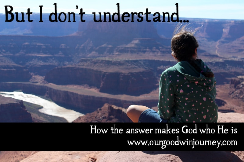 But I don't understand... how the answer makes God who He is #faith #trust #believe