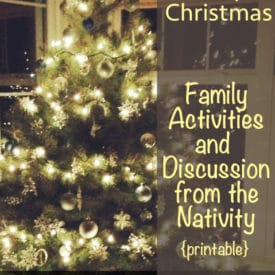 Christmas Activities for Kids - A Simple Christmas with Printable and Discussion for Families