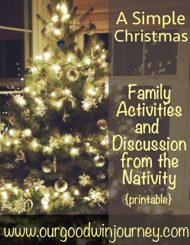 A Simple Christmas - using the gospels to inspire family activities and discussion of the nativity in preparation for Christmas! #homeschool #Christmas #holiday #family