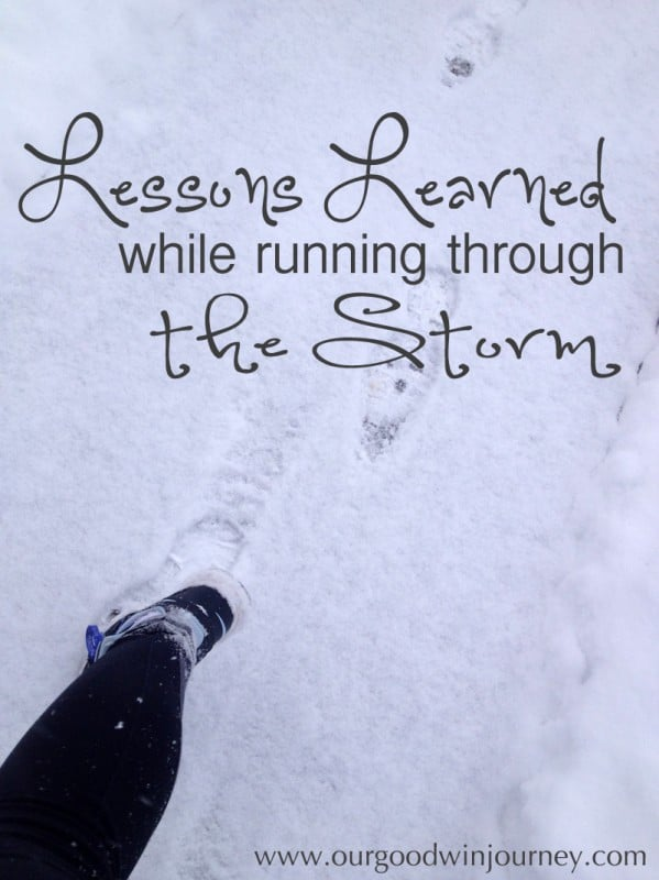 Learning to push against the struggles, look up and run through the storm
