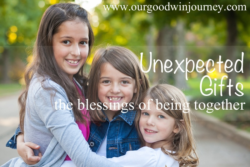The unexpected gift of being together...