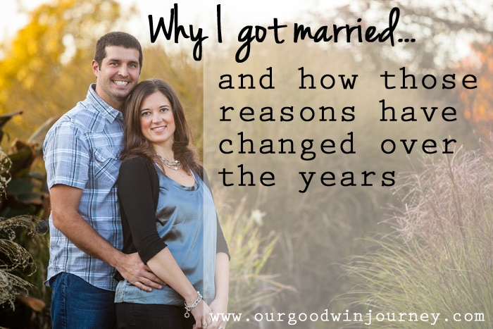 Reasons for Marriage and how those reasons have changed over the years
