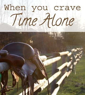 Being Alone - When You Crave Having Time Alone