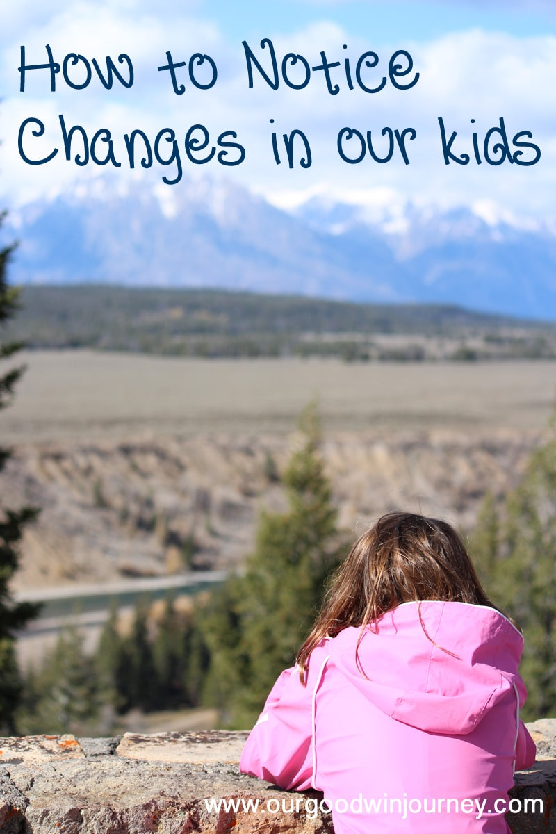 How To Notice Changes in our Kids