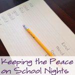 Keeping the Peace on School Nights