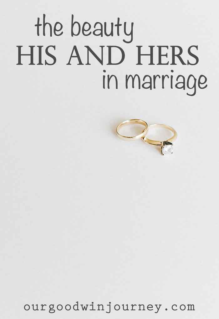 The Beauty Of Seeing His And Hers In Marriage