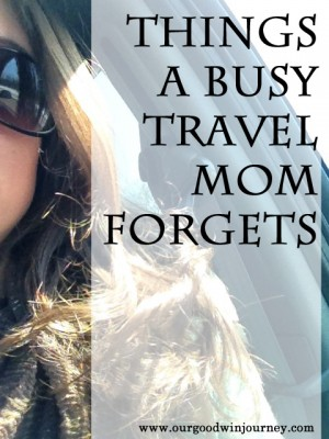 Family Travel - Things A Busy Travel Mom Forgets