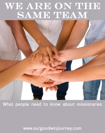 We are all on the same team #missions #church #ministry #missionary