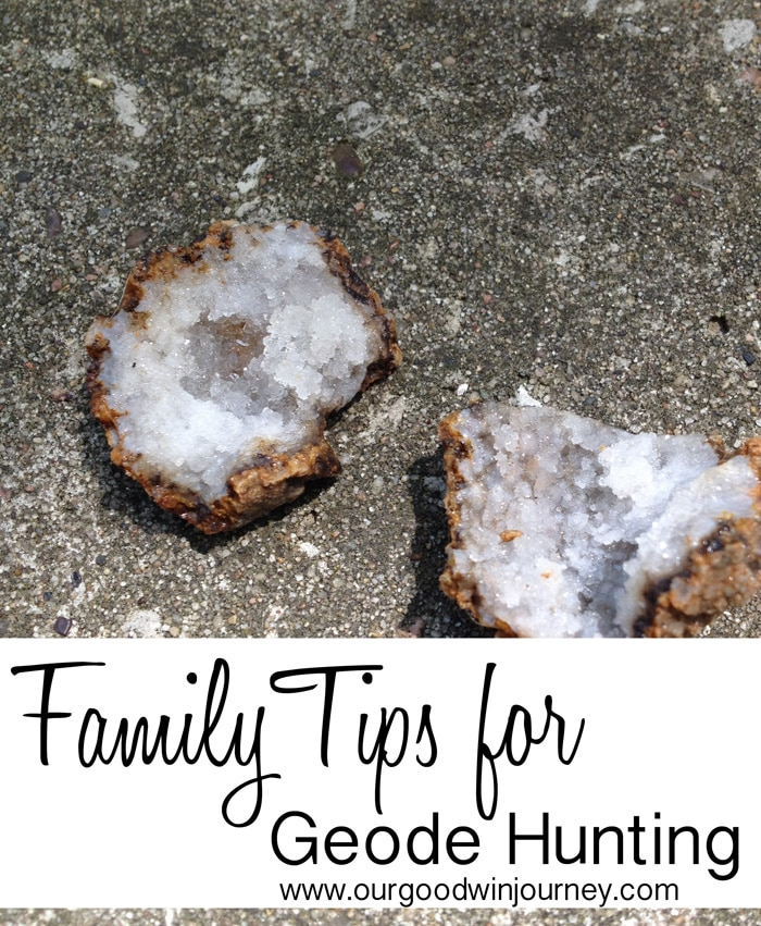 Family Tips for Geode Hunting