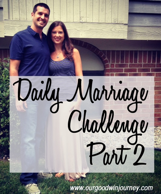 Marriage Challenge - A Daily Marriage Challenge Part 2