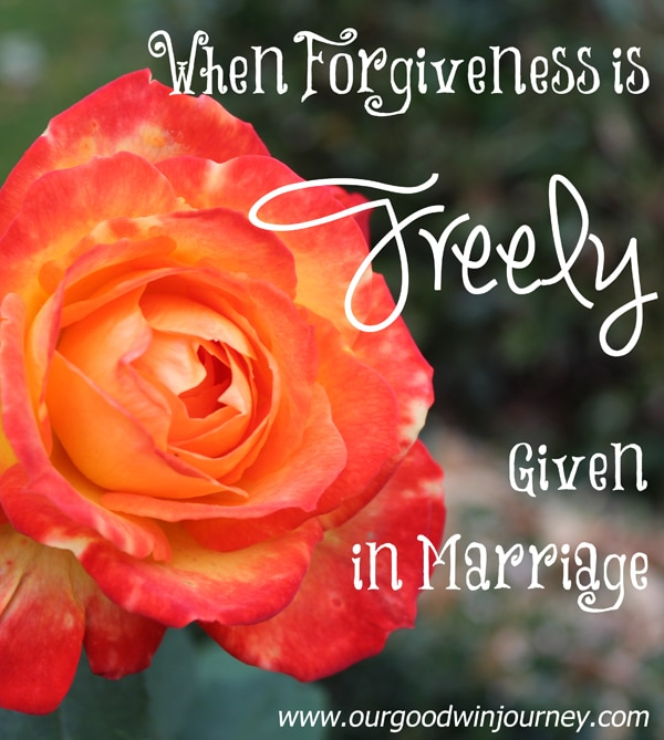 Forgiveness in Marriage - When Forgiveness is Freely Given