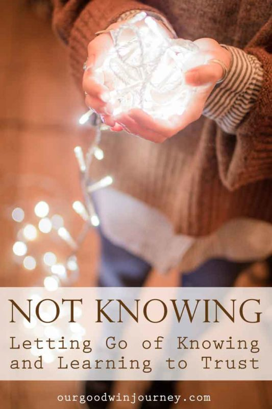 Not Knowing - Letting Go of Knowing and Learning to Trust