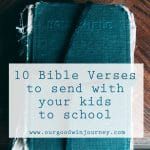 10 Verses to Give Your Kids