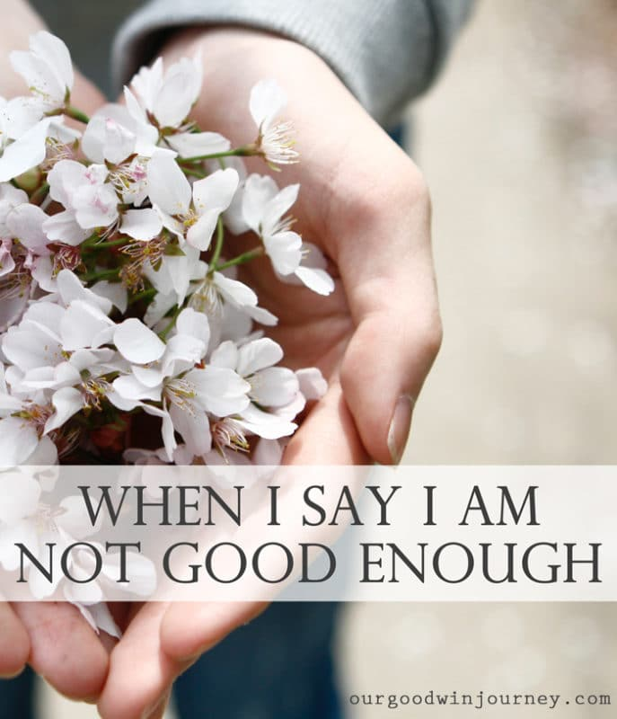 Not Good Enough - When I say I am Not Good Enough