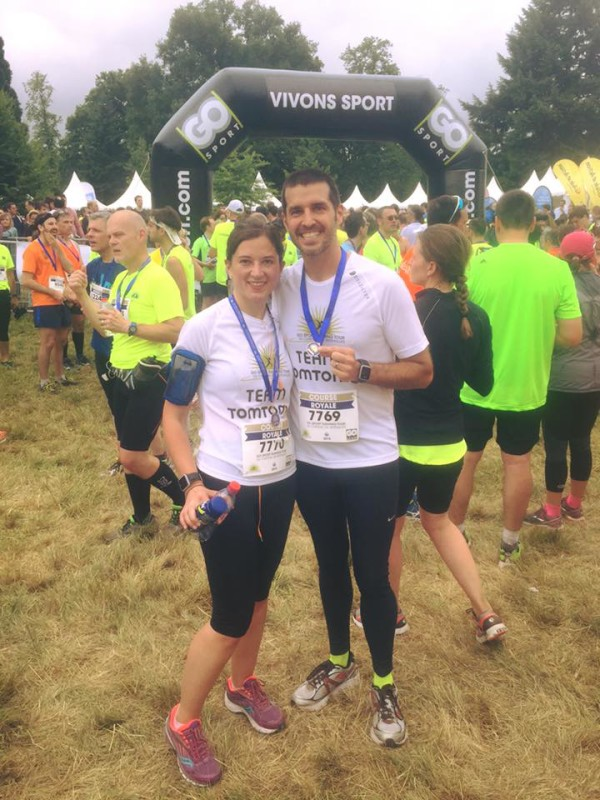 running the Go Sport Versailles 15K with #teamtomtom