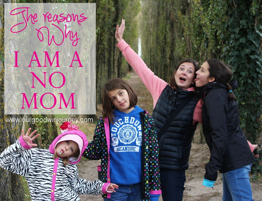 Mom Sayings - On Being a Mom Who Can Say No to Her Kids