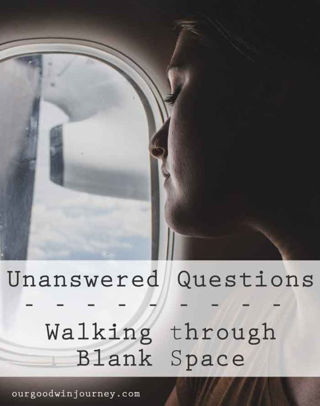 Unanswered Questions - Walking Through Blank Space