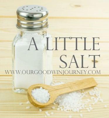 Just a little salt