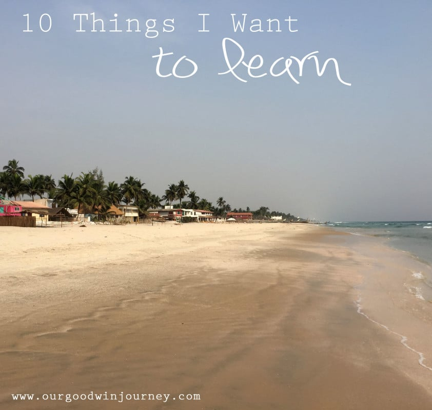 Things I Want to Learn