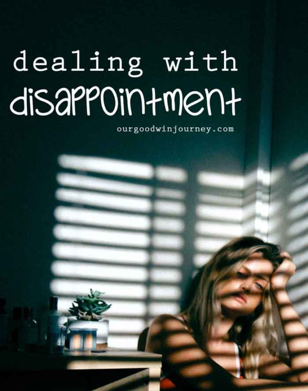 Dealing With Disappointment - Little Disappointments of Life