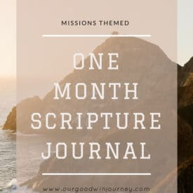 Missions Scripture Journal