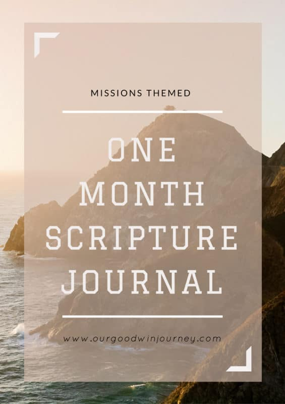 One Month Scripture Journal - Missions Themed