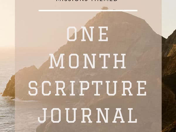 Bible Verses About Missions – Printable One Month Journal