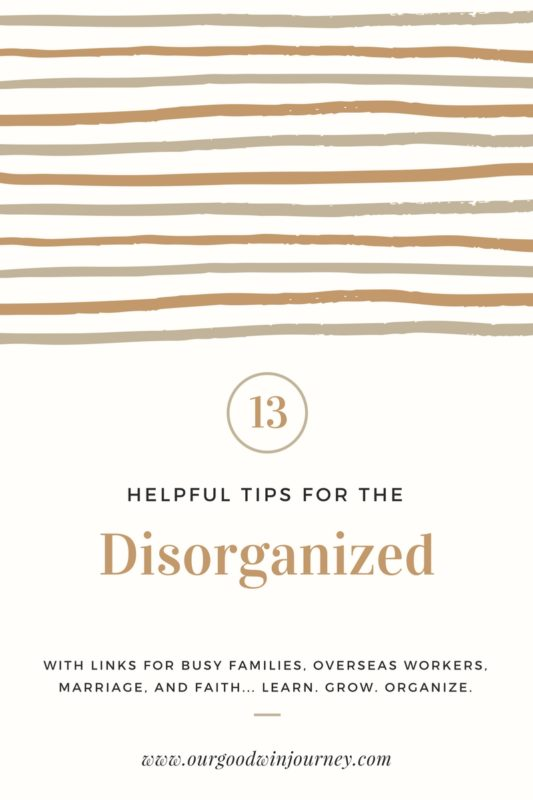 Help for the Disorganized