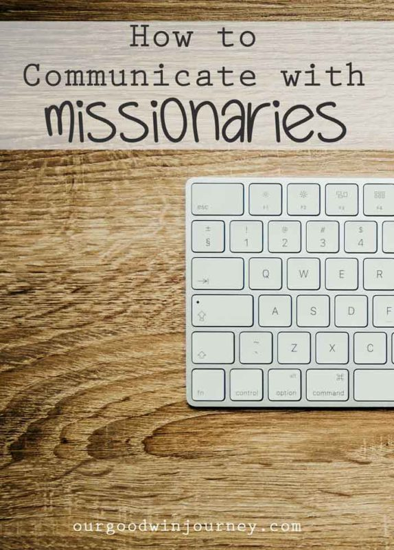 communicate with missionaries