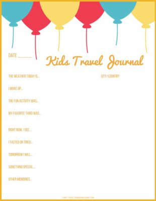 Travel Journal Ideas for KIDS! With Printable Pages
