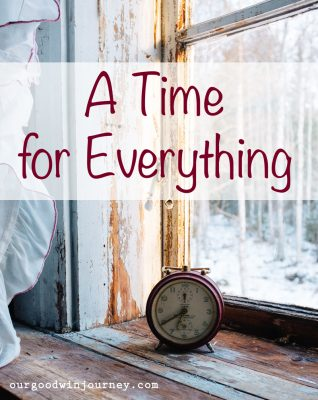 A Time For Everything - A Lesson from Ecclesiastes 3