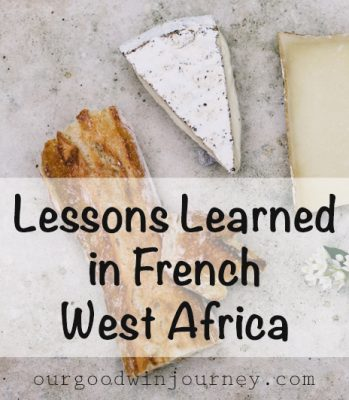 Lessons Learned in French West Africa