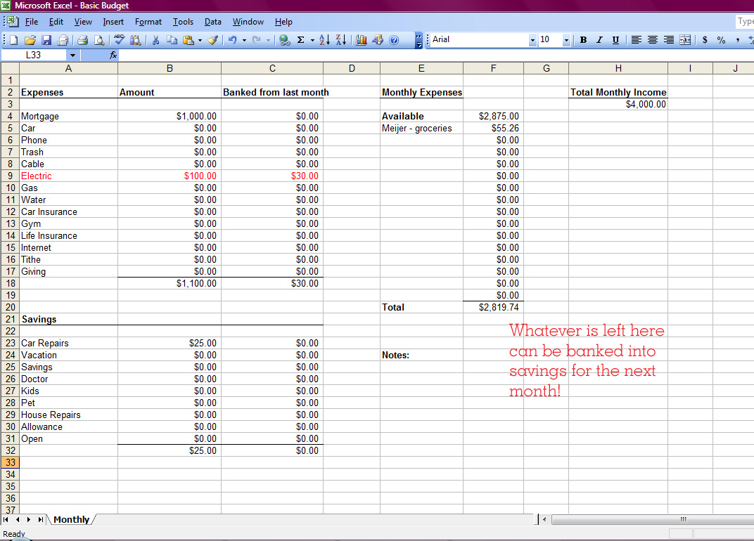 How To Budget Money Worksheet Abitlikethis