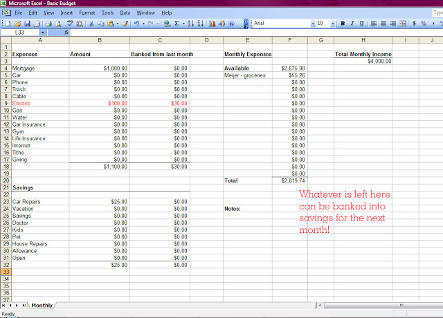 How to Make a Budget - Includes BASIC Monthly Spreadsheet!