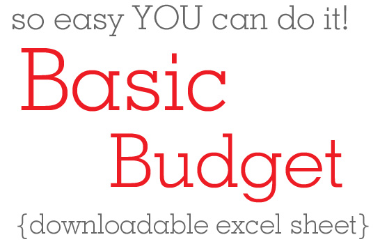 How to make a basic family budget with downloadable excel spreadsheet